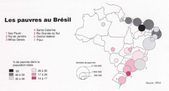 Favelas Bresil Carte.Untitled Document